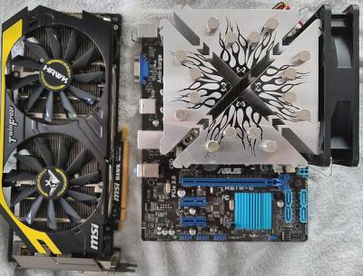 GPU、マザーボードの画像