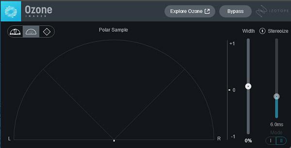 コントロールパネル中央にサンプルがグラフィカルに表示されます