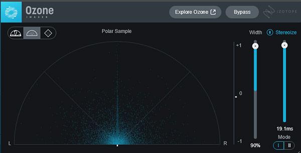 サンプルレベルが粒子で表示される