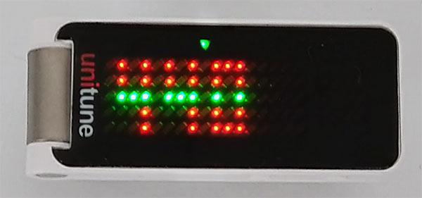 基準ピッチ変更モード画面では現在の基準ピッチが表示されます