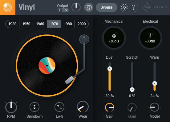 vinylのコントロール画面