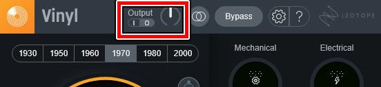 outputボタン