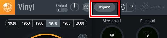 バイパスボタン