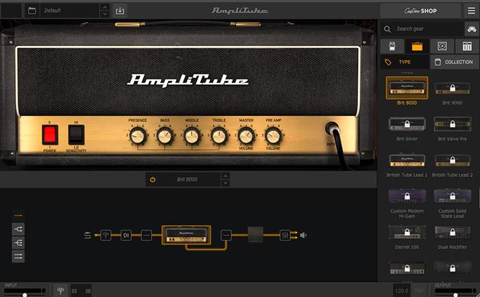 brit800のアンプ画像 黄色のコントロールパネル