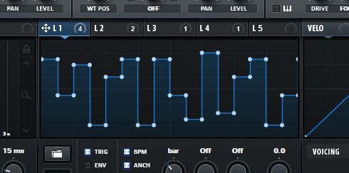 SERUMのLFO設定で音程を描く