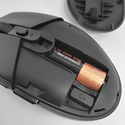 電池ボックスはひとつのみ、単三乾電池のみ対応